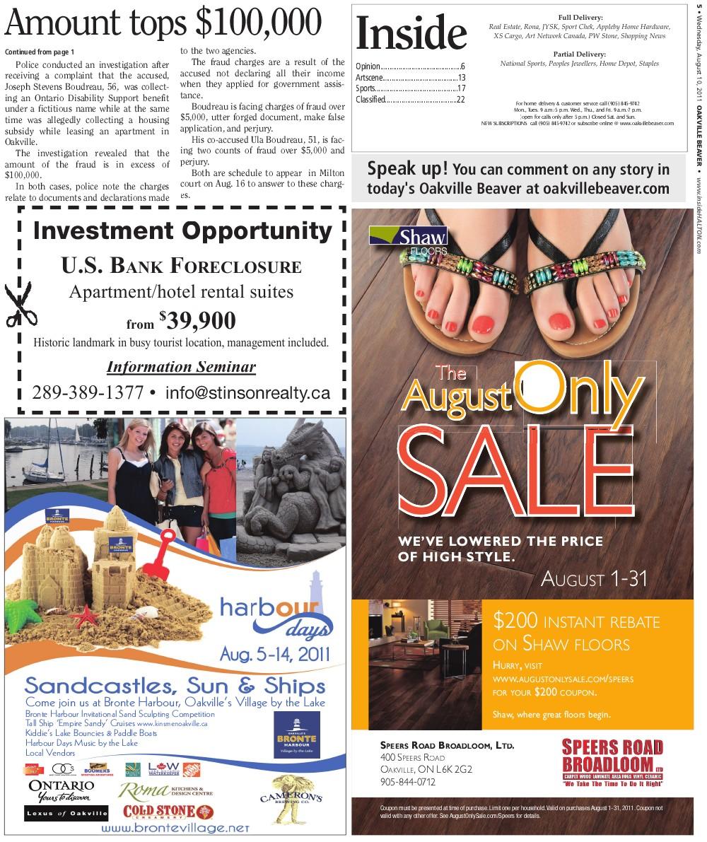 Oakville Beaver, 10 Aug 2011