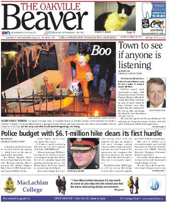 Oakville Beaver, 28 Oct 2011