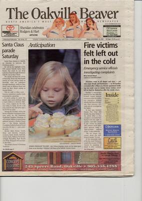 Oakville Beaver, 18 Nov 2005