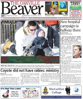 Oakville Beaver, 25 Jan 2012