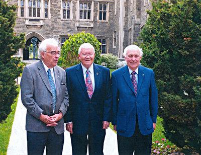 Prof. Phil Sullivan, Astronaut Fred Haise, John Barry French