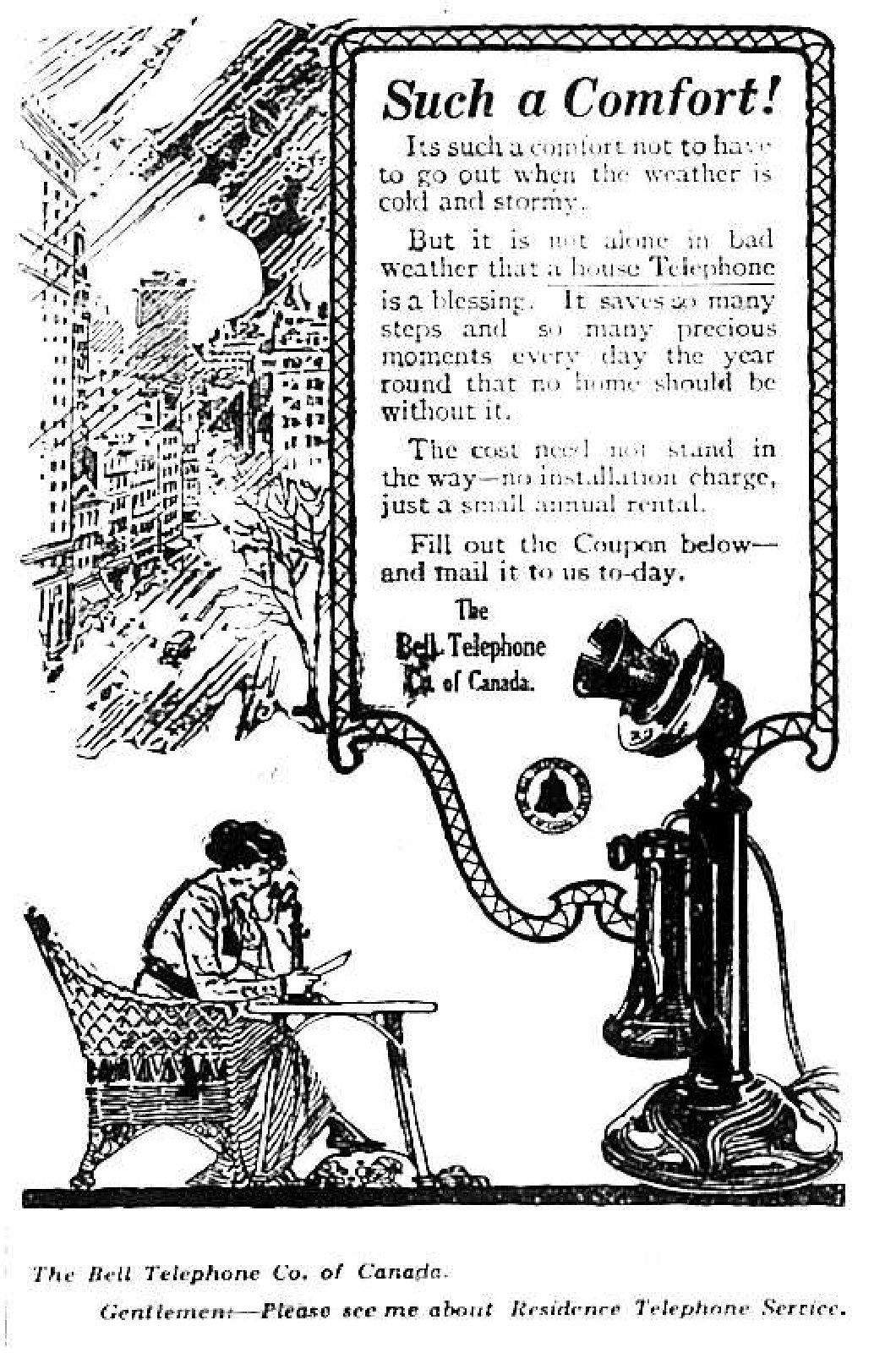 The Bell Telephone Company of Canada Advertisement, 1916