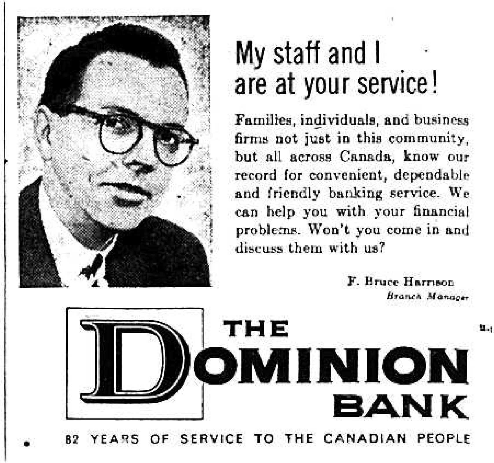 The Dominion Bank Advertisement (1953)