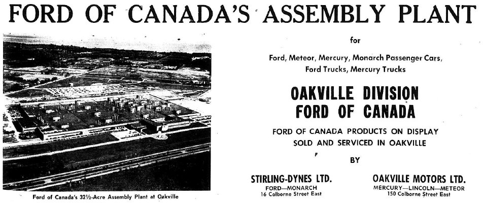 Ford Assembly Plant, Oakville Division