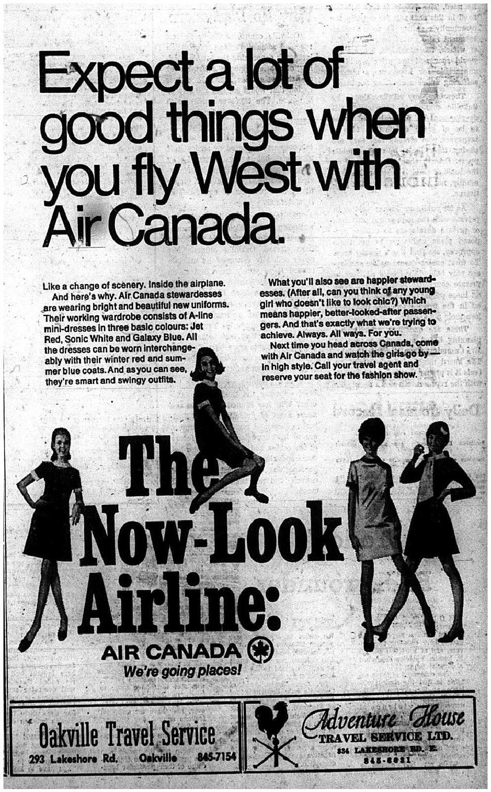 Air Canada Advertisement, 1969