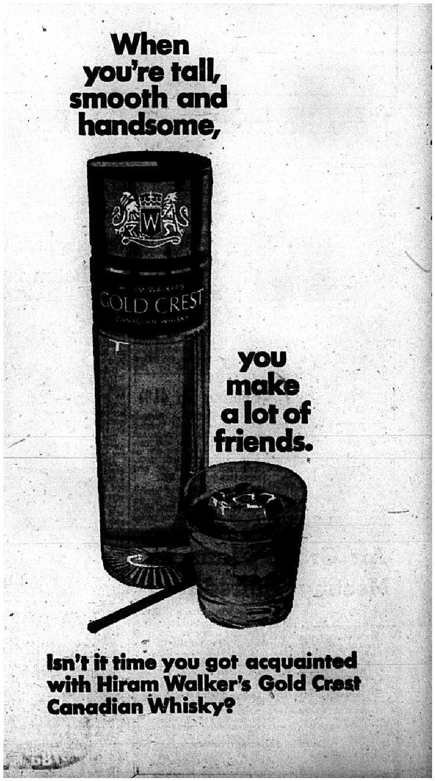 Canadian Whisky Advertisement, 1969