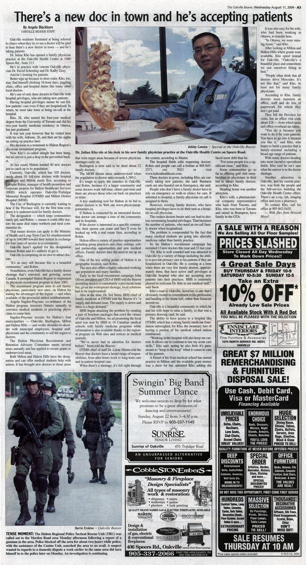 Oakville Beaver, 11 Aug 2004