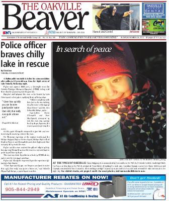 Oakville Beaver, 23 Nov 2012
