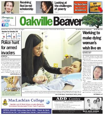 Oakville Beaver, 10 Apr 2013