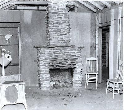 "Interior of ""The Cottage"""