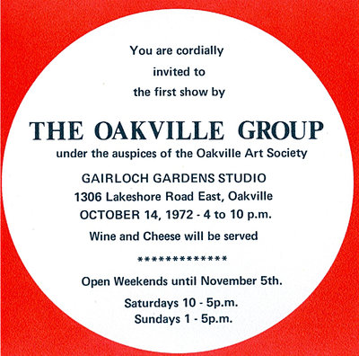 Brochure for the Oakville Group's first show