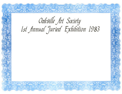 1st Annual Juried Art Show - Certificate