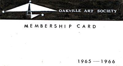 Second Version of 1965 Oakville Art Society logo