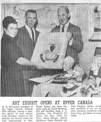"""Art Exhibit Opens at Upper Canada"""