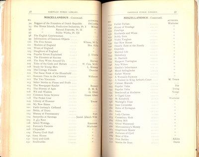 Oakville Public Library Catalogue (36-37)