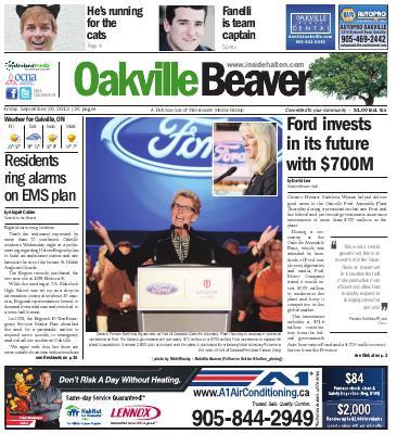 Oakville Beaver, 20 Sep 2013