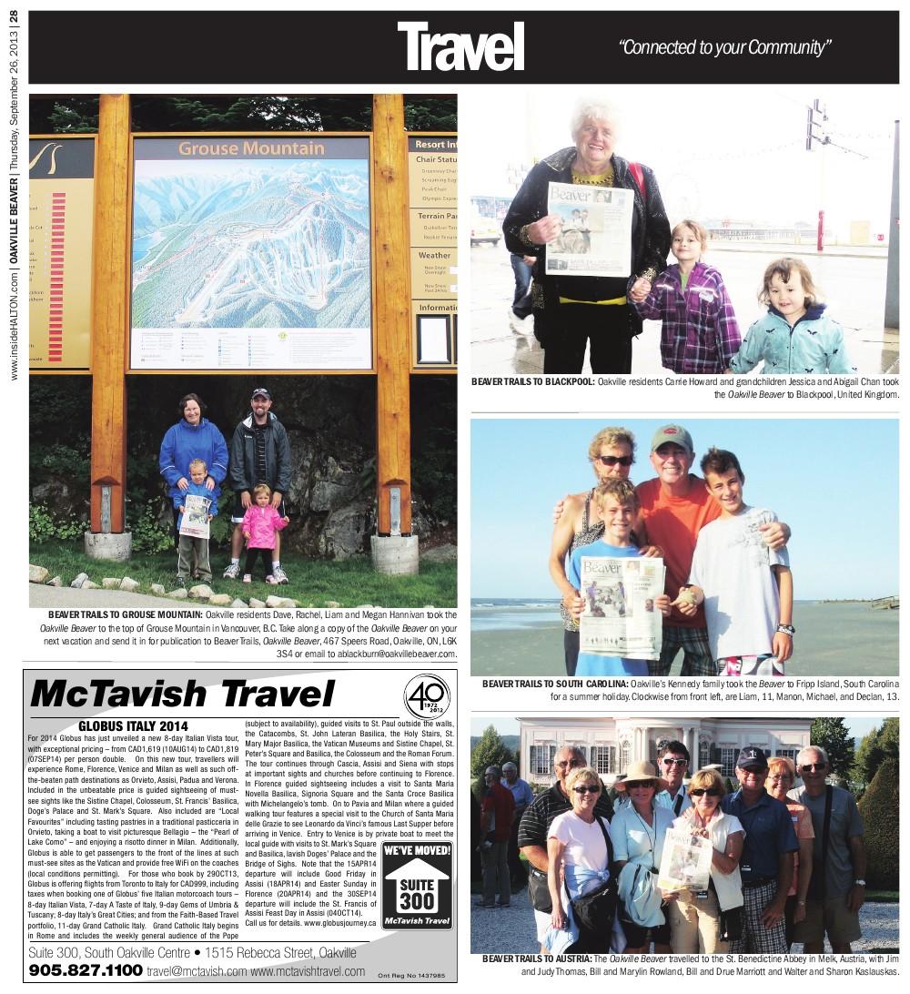 Oakville Beaver, 26 Sep 2013