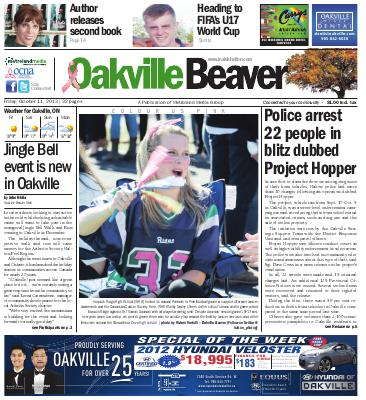 Oakville Beaver, 11 Oct 2013