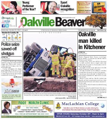 Oakville Beaver, 23 Oct 2013