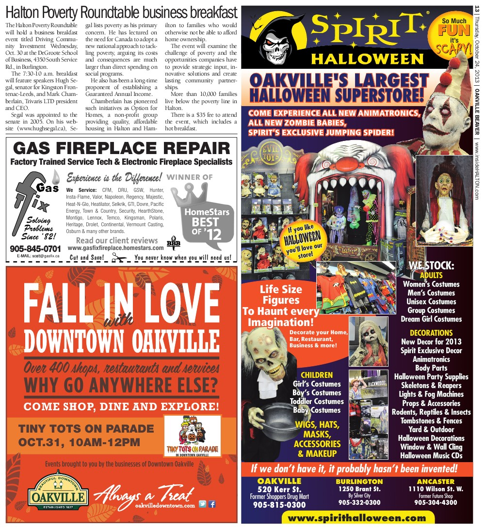 Oakville Beaver, 24 Oct 2013
