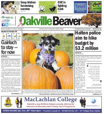 Oakville Beaver, 25 Oct 2013
