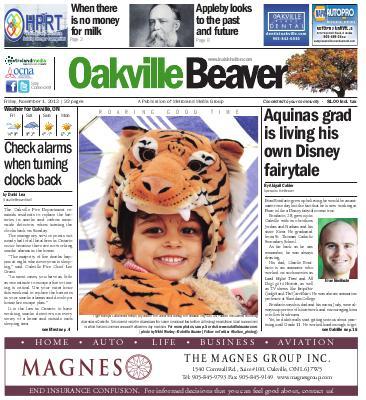 Oakville Beaver, 1 Nov 2013