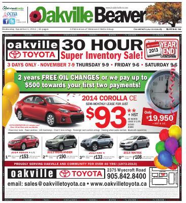 Oakville Beaver, 6 Nov 2013