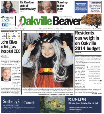Oakville Beaver, 31 Oct 2013