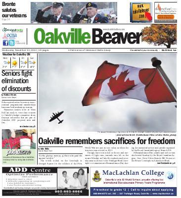 Oakville Beaver, 13 Nov 2013