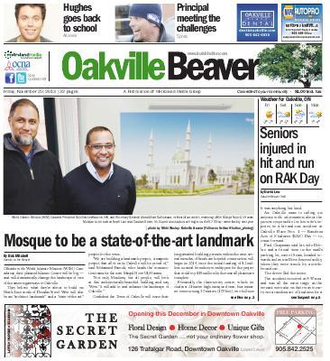 Oakville Beaver, 29 Nov 2013