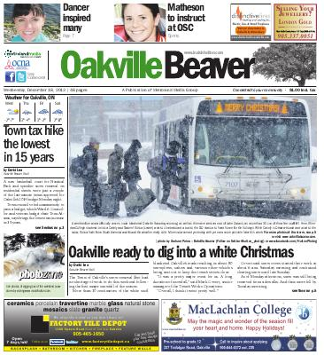 Oakville Beaver, 18 Dec 2013
