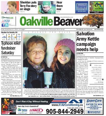 Oakville Beaver, 22 Nov 2013