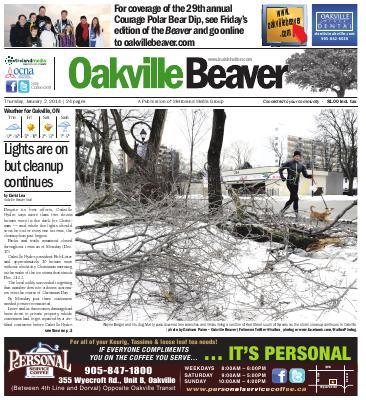 Oakville Beaver, 2 Jan 2014