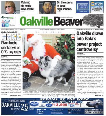 Oakville Beaver, 13 Dec 2013