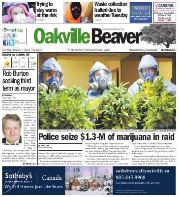 Oakville Beaver, 9 Jan 2014