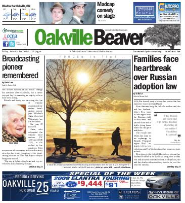 Oakville Beaver, 10 Jan 2014