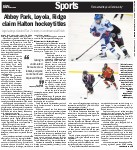 Abbey Park, Loyola, Ridge claim Halton hockey titles: Absence of rep players opened door for house leaguers to develop