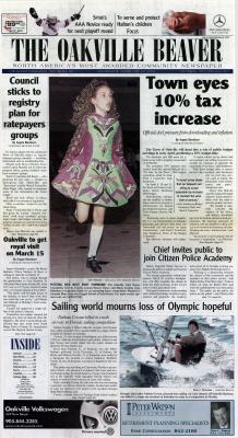 Oakville Beaver, 20 Feb 2002