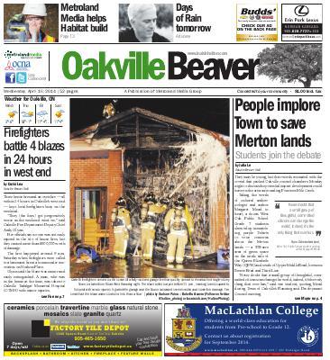 Oakville Beaver, 16 Apr 2014