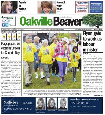 Oakville Beaver, 26 Jun 2014