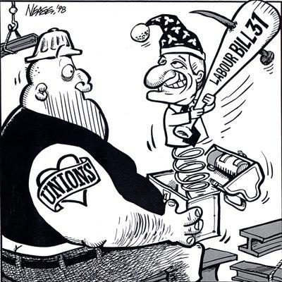 Steve Nease Editorial Cartoons: Labour Bill 31