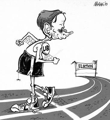 Steve Nease Editorial Cartoons: Chretien's Race