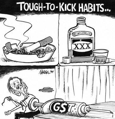 Steve Nease Editorial Cartoons: Tough to Kick Habits (GST)