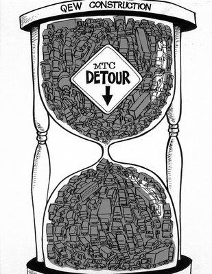 Steve Nease Editorial Cartoons: QEW Construction