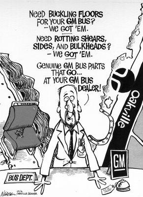 Steve Nease Editorial Cartoons: GM Buses