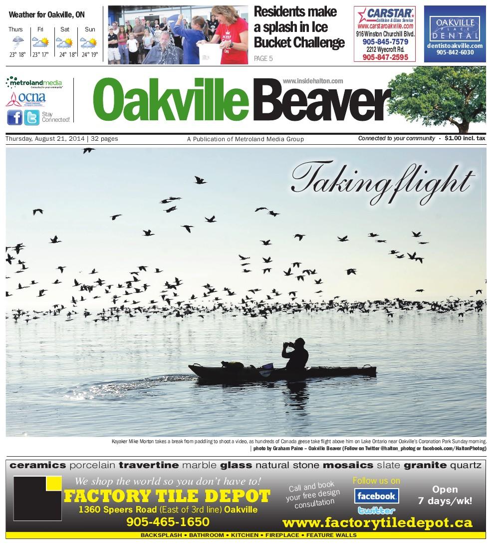 Oakville Beaver, 21 Aug 2014