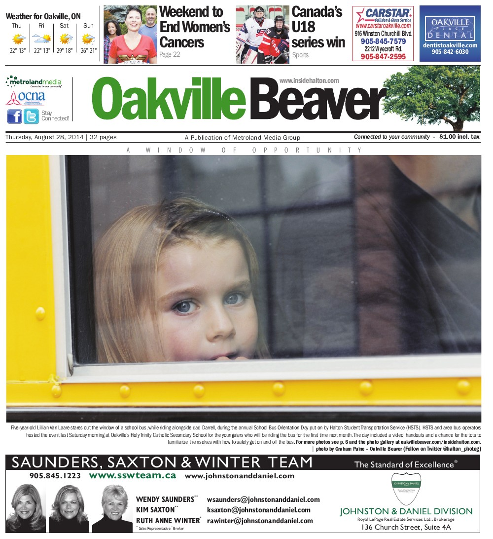 Oakville Beaver, 28 Aug 2014