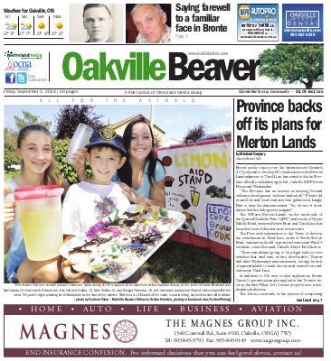 Oakville Beaver, 5 Sep 2014