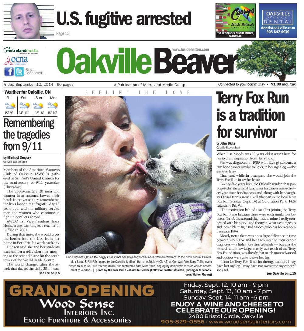 Oakville Beaver, 12 Sep 2014