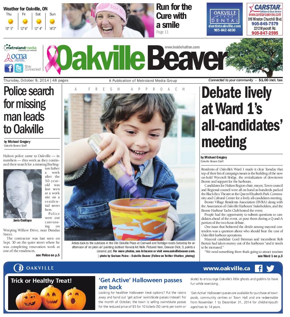 Oakville Beaver, 9 Oct 2014